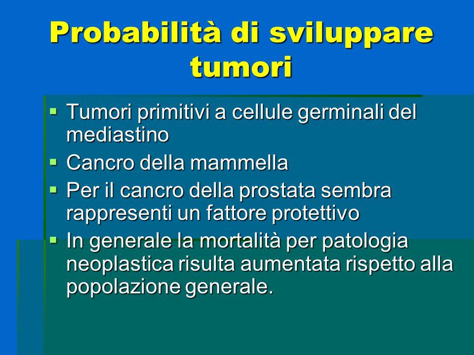 Probabilità di sviluppare tumori