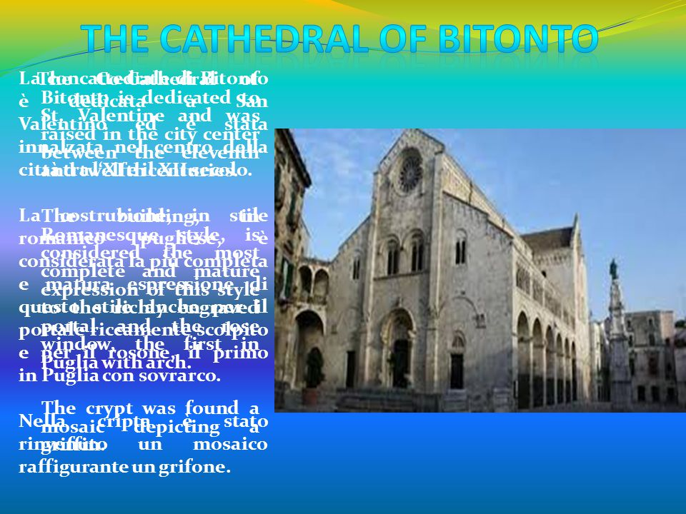 The cathedral of Bitonto