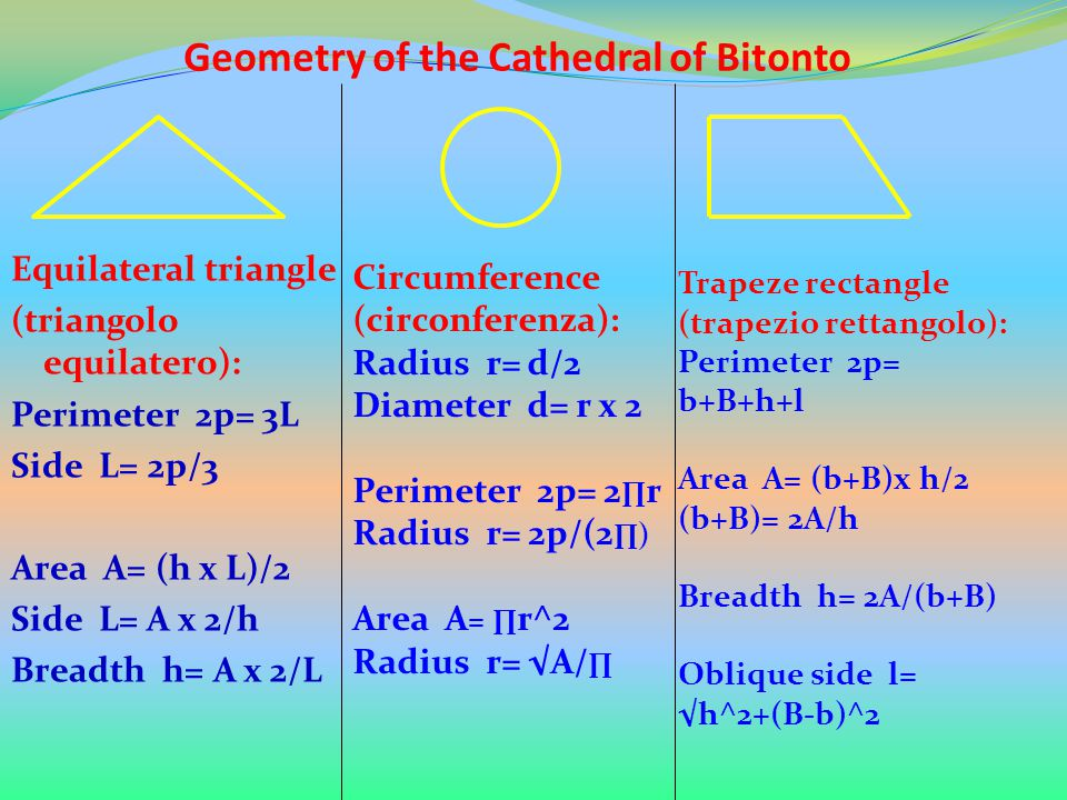 Geometry of the Cathedral of Bitonto