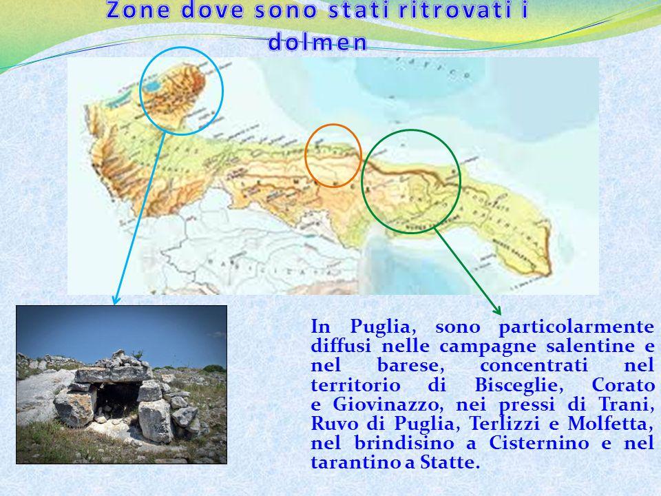 Zone dove sono stati ritrovati i dolmen