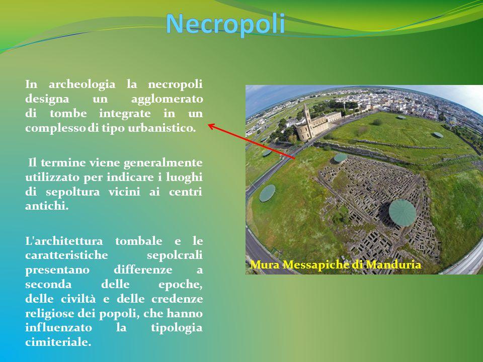 Necropoli In archeologia la necropoli designa un agglomerato di tombe integrate in un complesso di tipo urbanistico.
