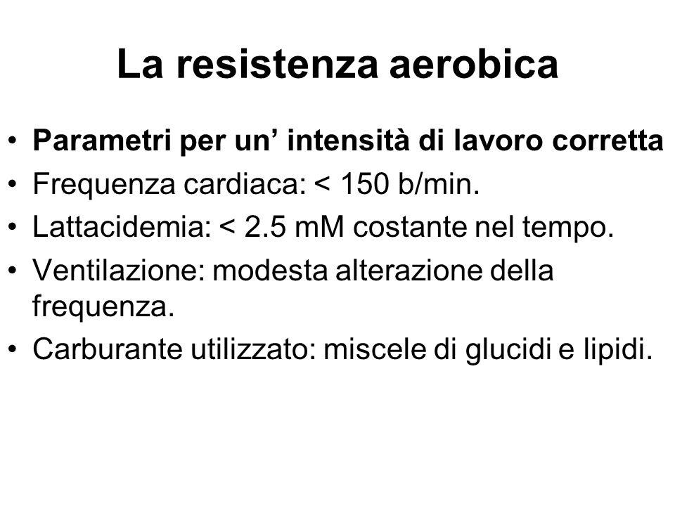 La resistenza aerobica