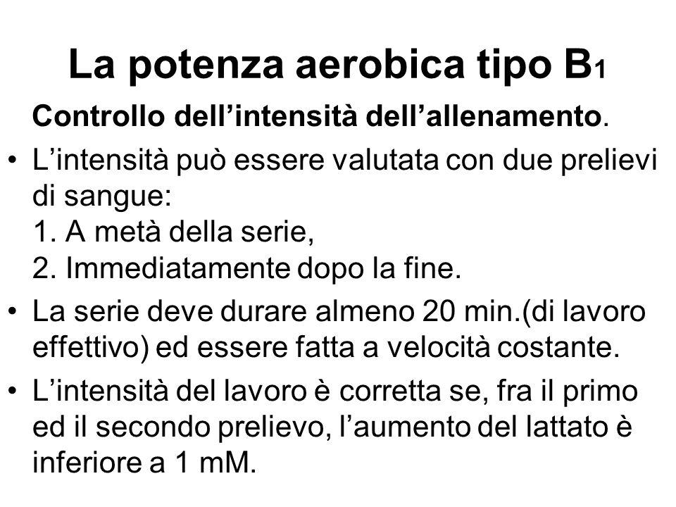 La potenza aerobica tipo B1