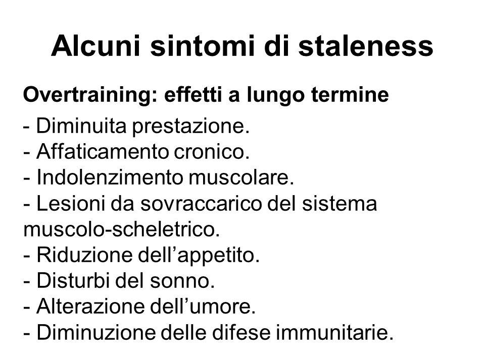 Alcuni sintomi di staleness