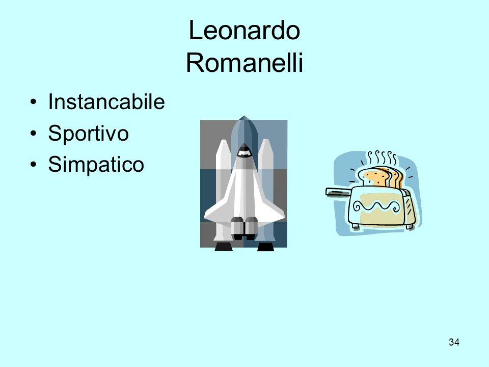 Leonardo Romanelli Instancabile Sportivo Simpatico