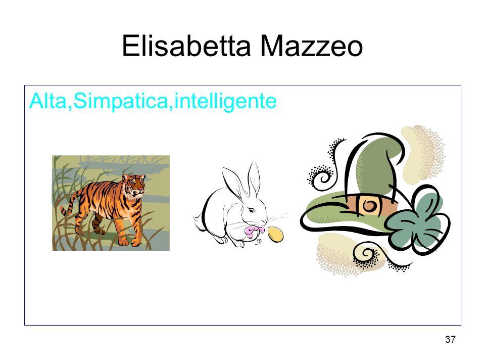 Elisabetta Mazzeo Alta,Simpatica,intelligente