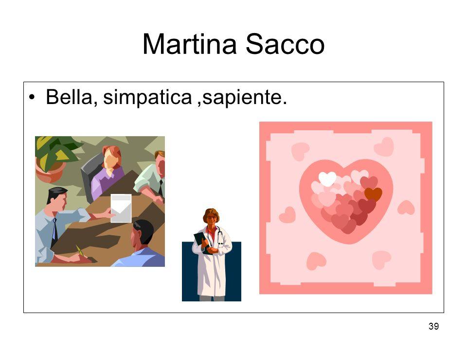 Martina Sacco Bella, simpatica ,sapiente.