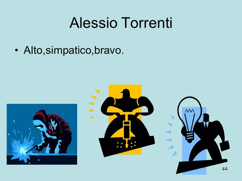 Alessio Torrenti Alto,simpatico,bravo.