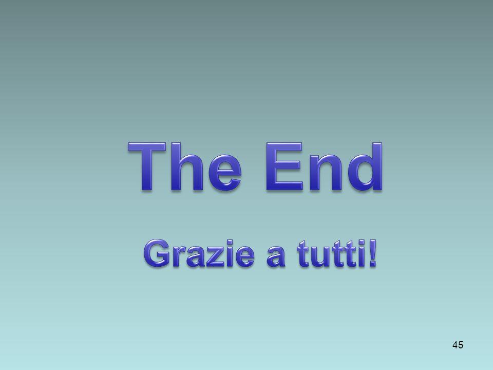 The End Grazie a tutti!