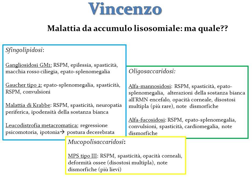 Vincenzo Malattia da accumulo lisosomiale: ma quale Sfingolipidosi: