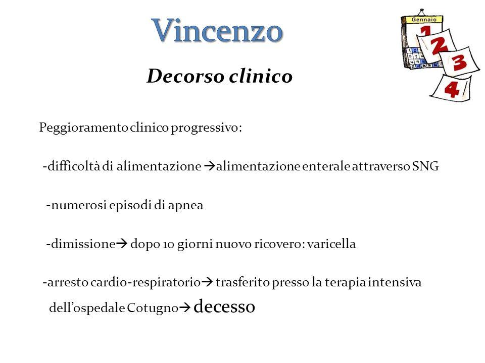 Vincenzo Decorso clinico
