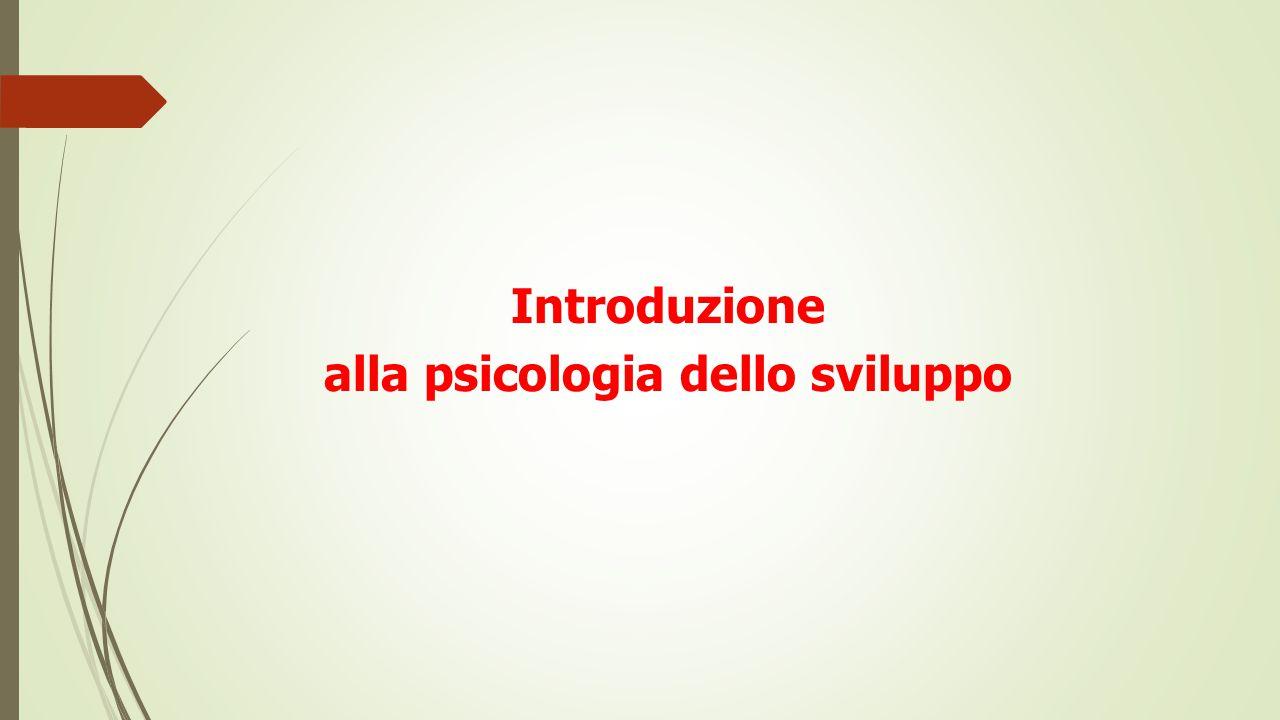 alla psicologia dello sviluppo