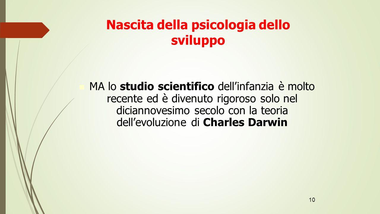 Nascita della psicologia dello sviluppo