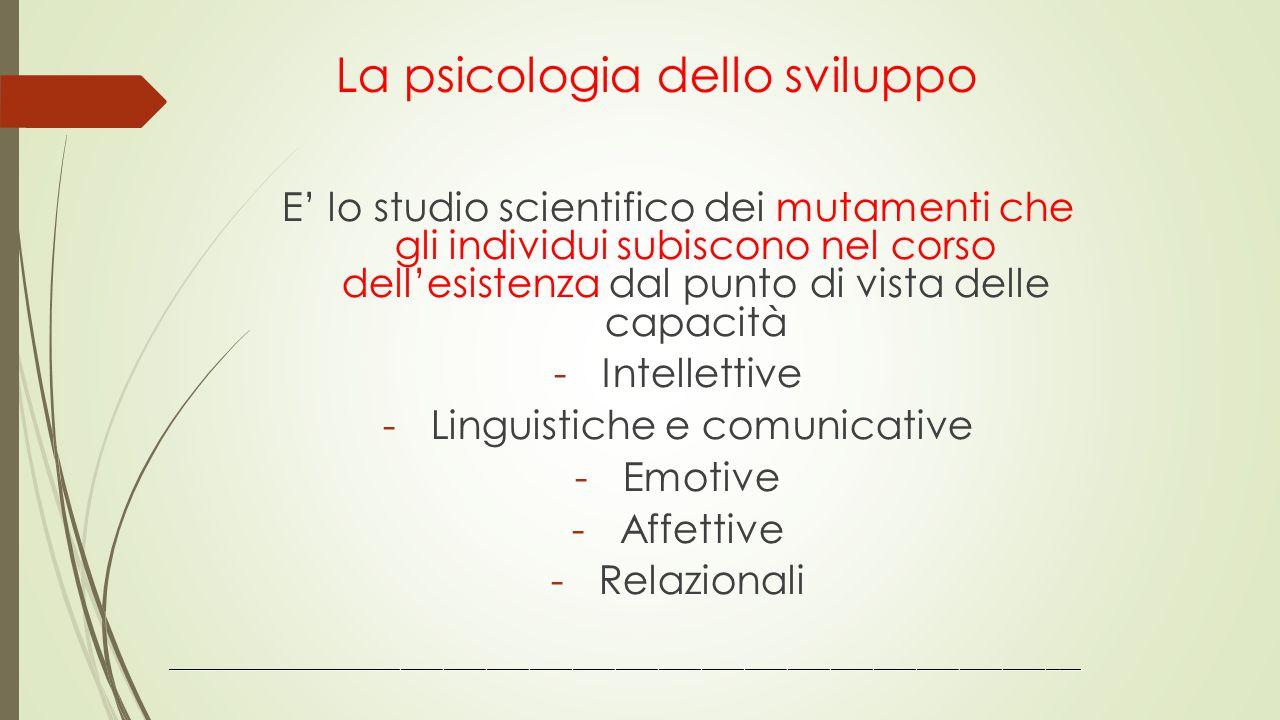 La psicologia dello sviluppo