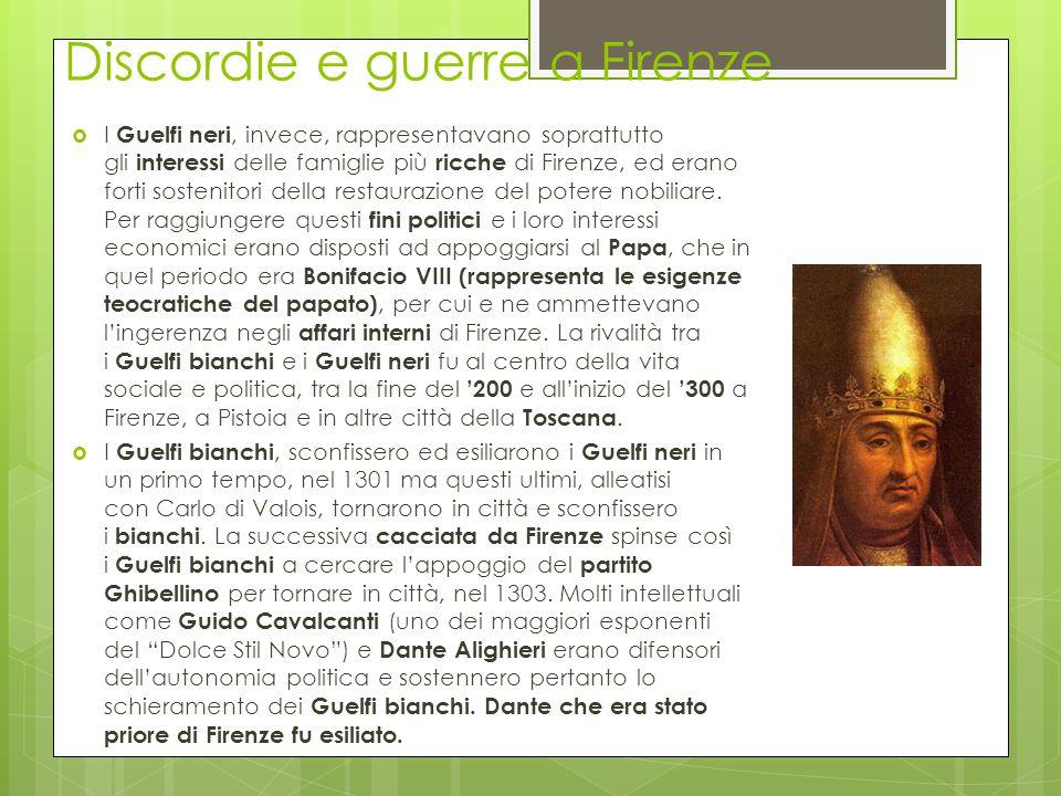 Discordie e guerre a Firenze