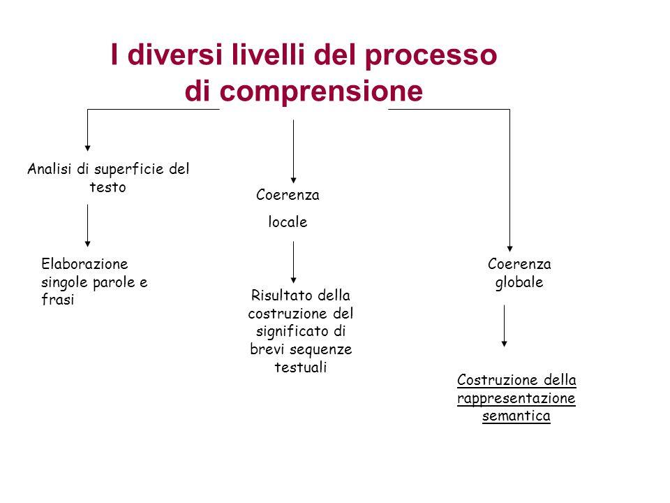 I diversi livelli del processo di comprensione