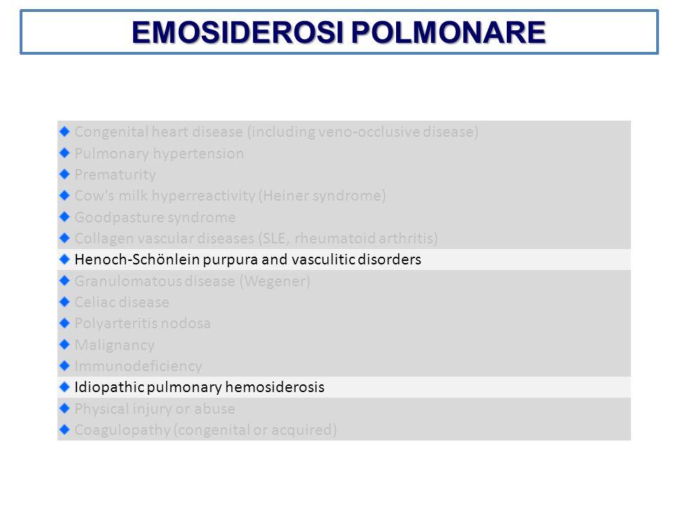 EMOSIDEROSI POLMONARE