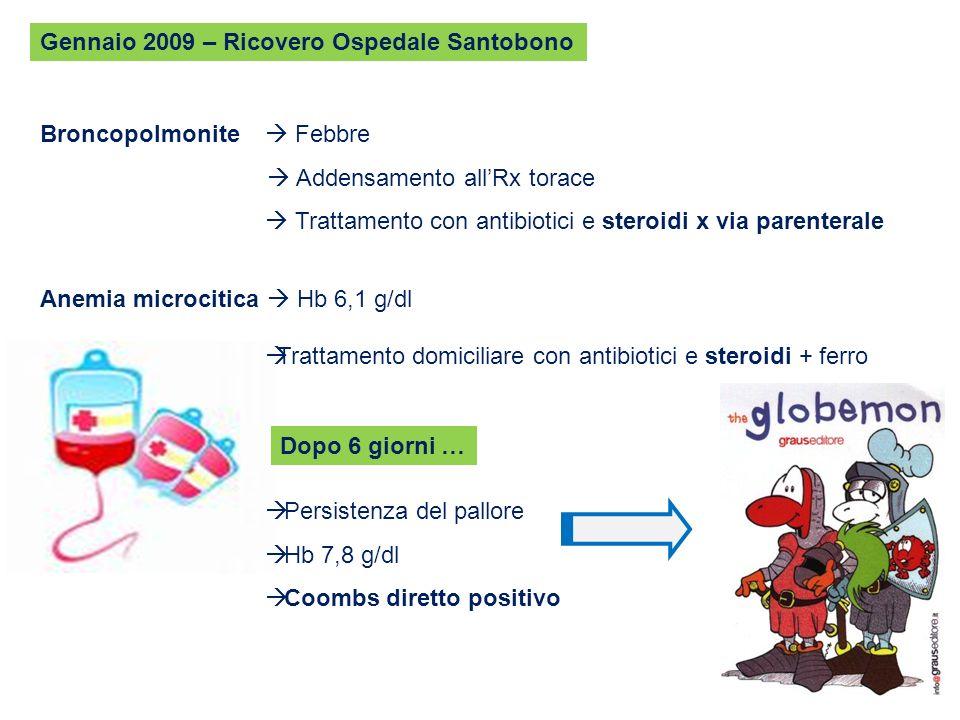 Gennaio 2009 – Ricovero Ospedale Santobono