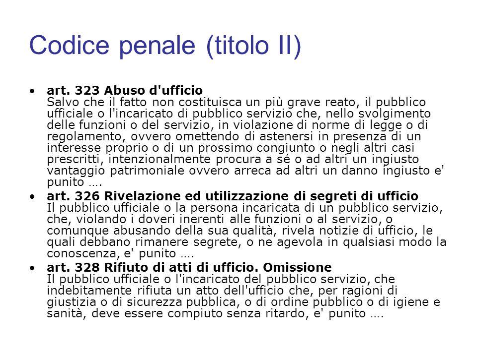 Codice penale (titolo II)
