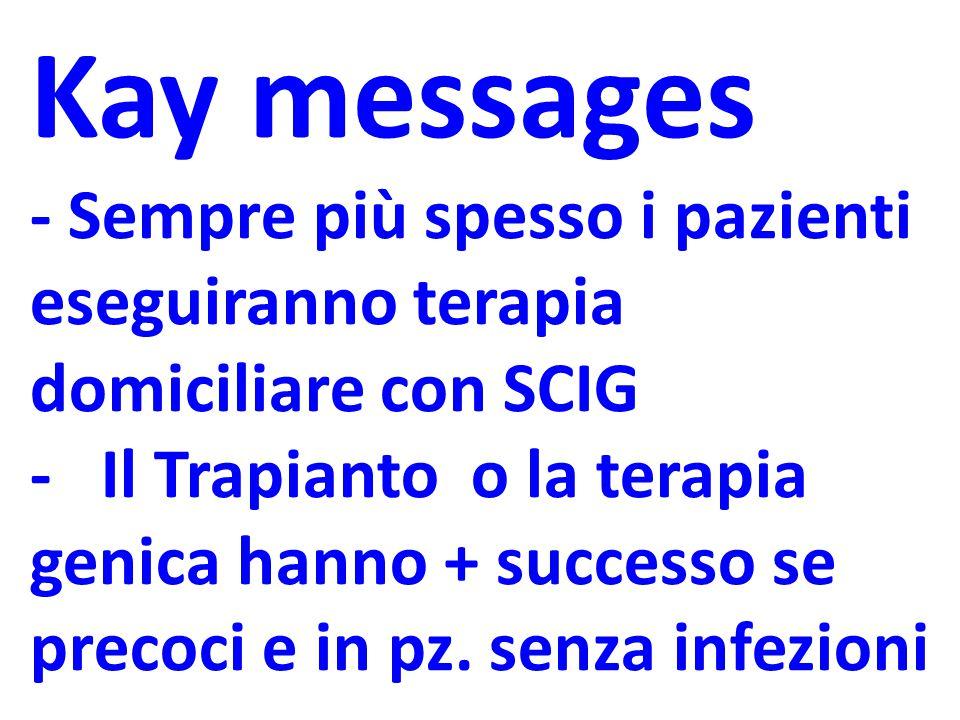 Kay messages - Sempre più spesso i pazienti eseguiranno terapia domiciliare con SCIG.