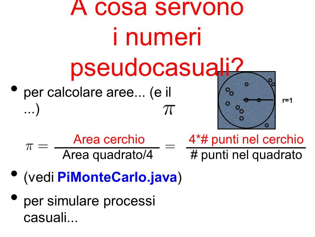 A cosa servono i numeri pseudocasuali