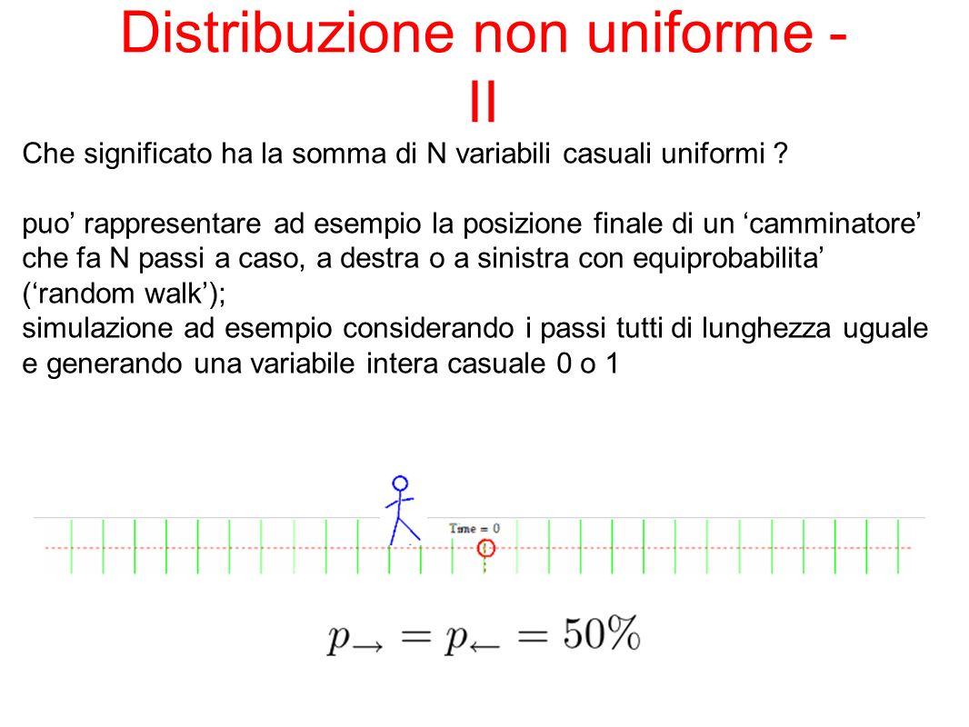 Distribuzione non uniforme - II