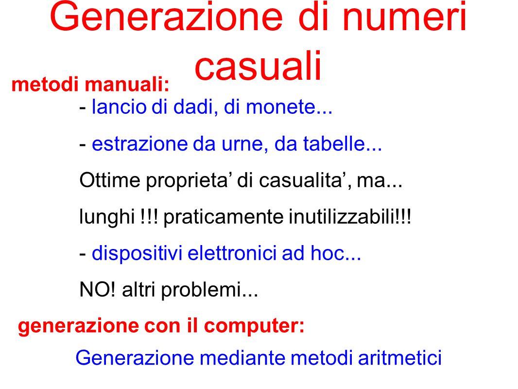 Generazione di numeri casuali