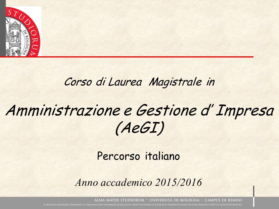 Amministrazione e Gestione d' Impresa (AeGI)