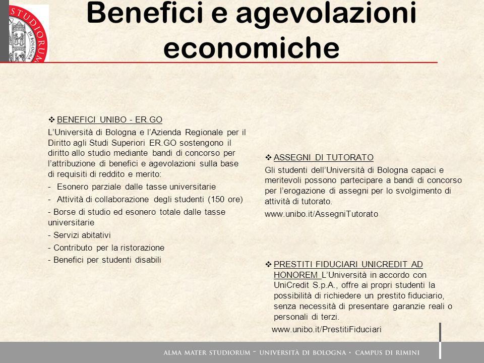 Benefici e agevolazioni economiche