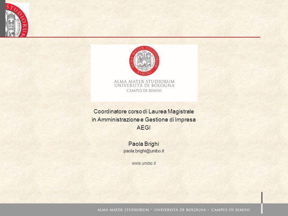 Coordinatore corso di Laurea Magistrale