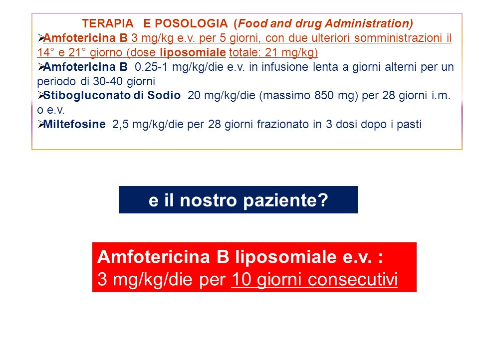 TERAPIA E POSOLOGIA (Food and drug Administration)