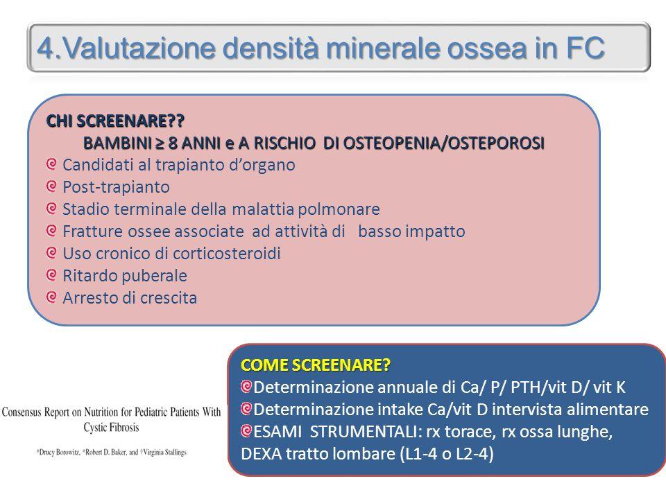 BAMBINI ≥ 8 ANNI e A RISCHIO DI OSTEOPENIA/OSTEPOROSI