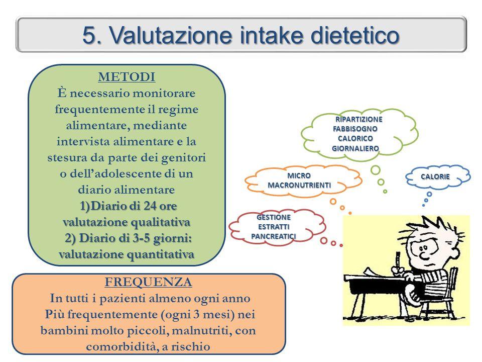 5. Valutazione intake dietetico