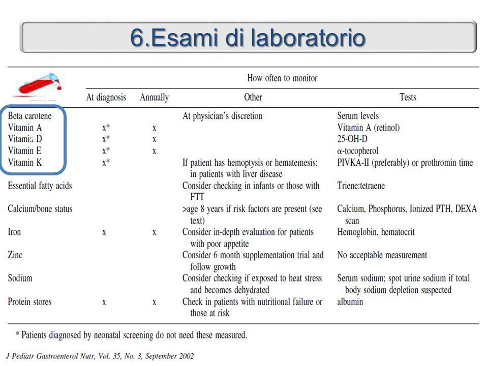 6.Esami di laboratorio <