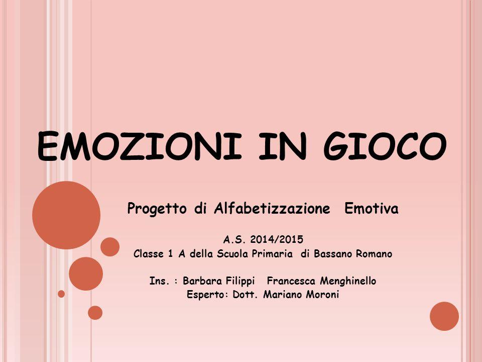 EMOZIONI IN GIOCO Progetto di Alfabetizzazione Emotiva A.S. 2014/2015