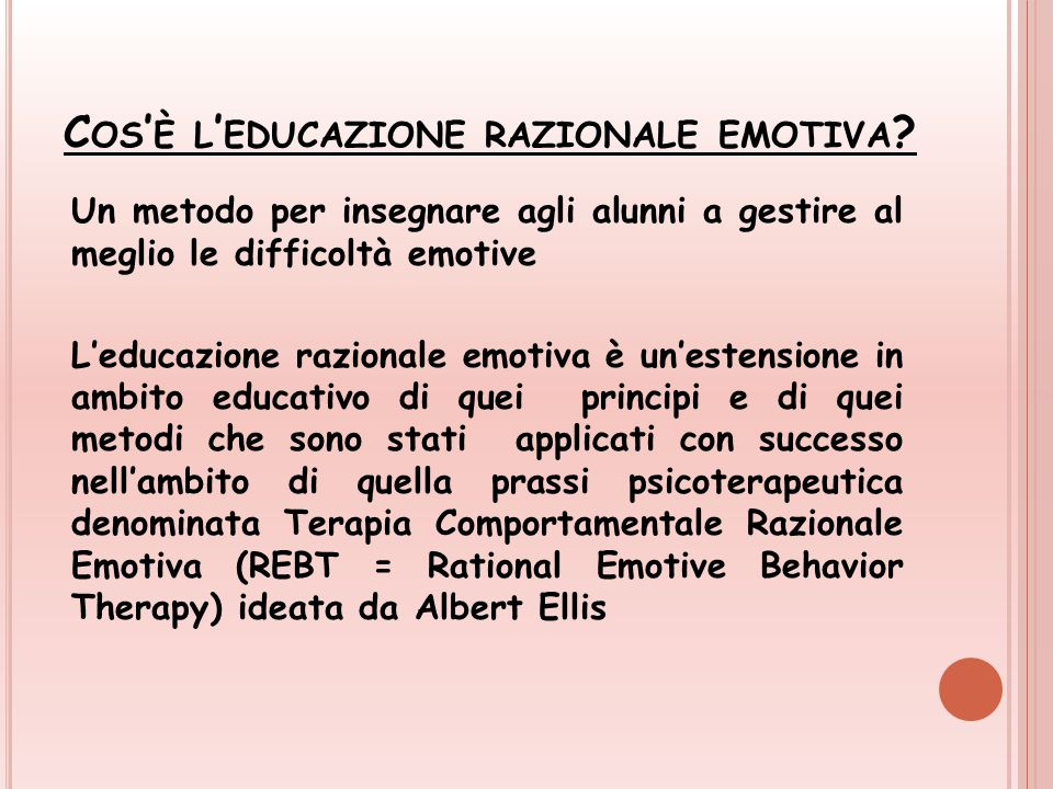 Cos'è l'educazione razionale emotiva