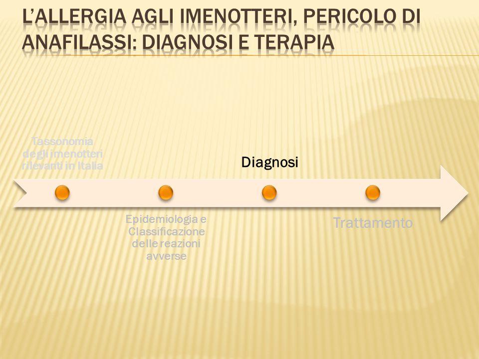L'allergia agli imenotteri, pericolo di anafilassi: diagnosi e terapia