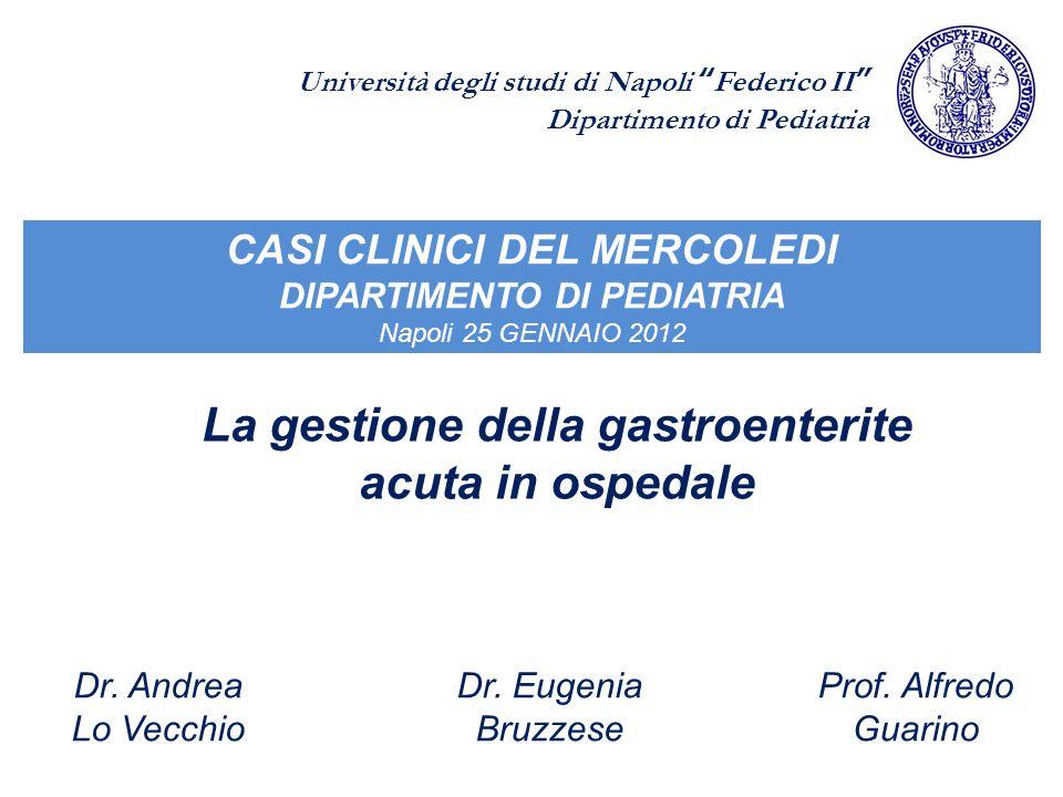 La gestione della gastroenterite acuta in ospedale