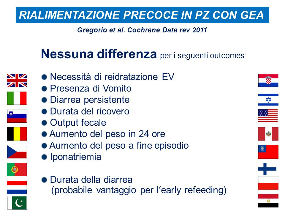 Nessuna differenza per i seguenti outcomes:
