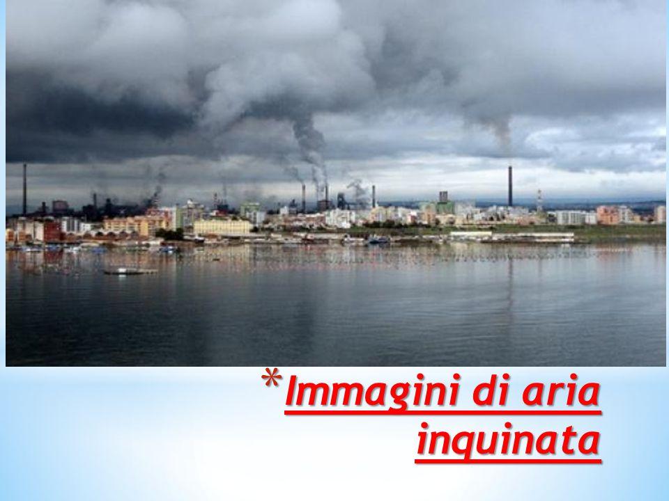 Immagini di aria inquinata
