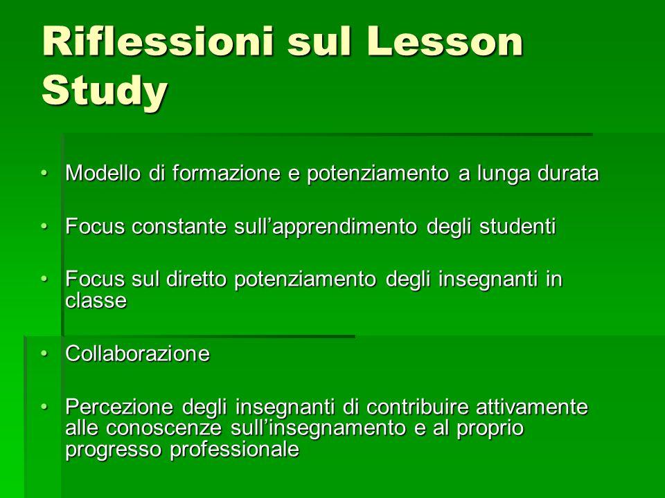 Riflessioni sul Lesson Study