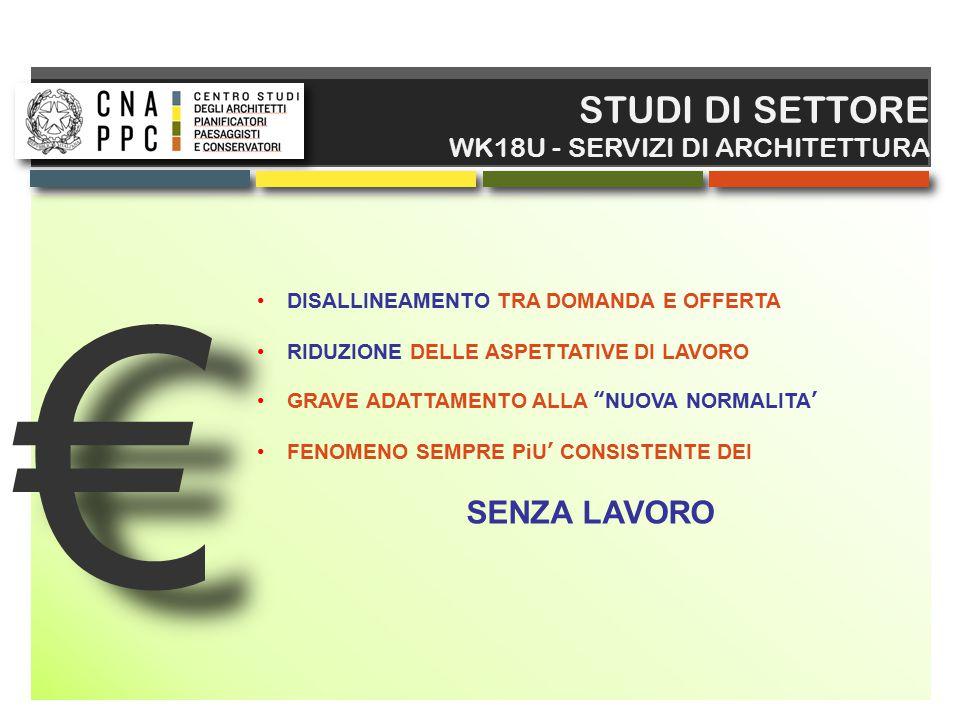 € STUDI DI SETTORE SENZA LAVORO WK18U - SERVIZI DI ARCHITETTURA