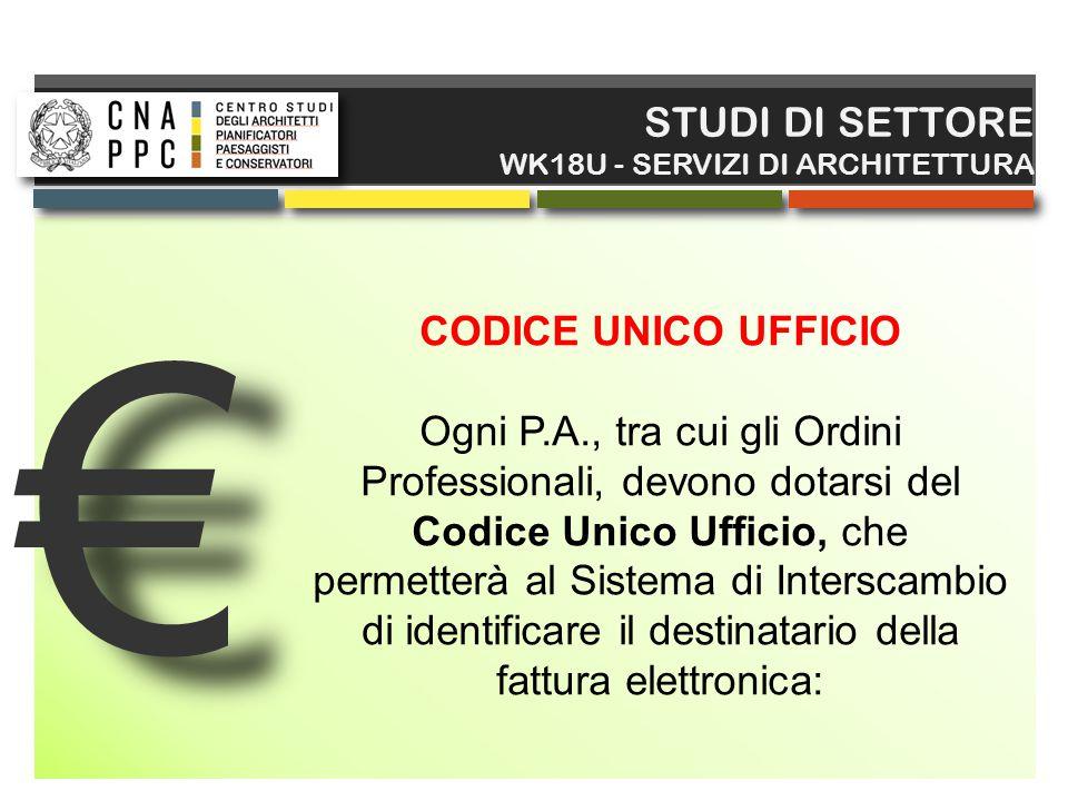 € STUDI DI SETTORE CODICE UNICO UFFICIO