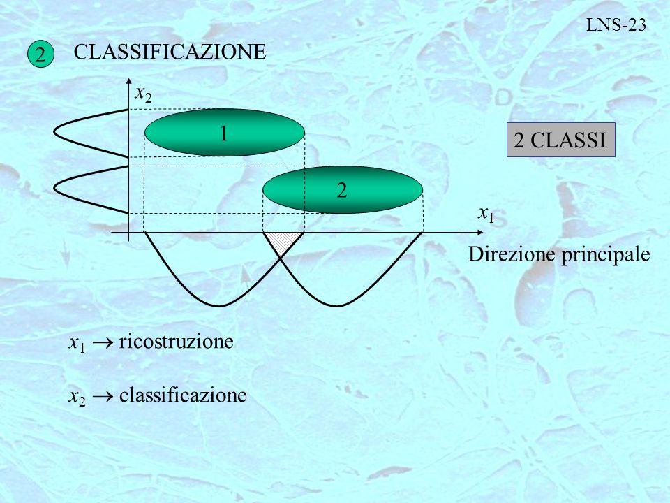 CLASSIFICAZIONE 2 x2 1 2 CLASSI 2 x1 Direzione principale