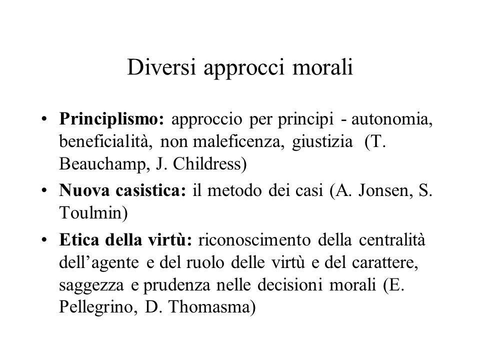 Diversi approcci morali