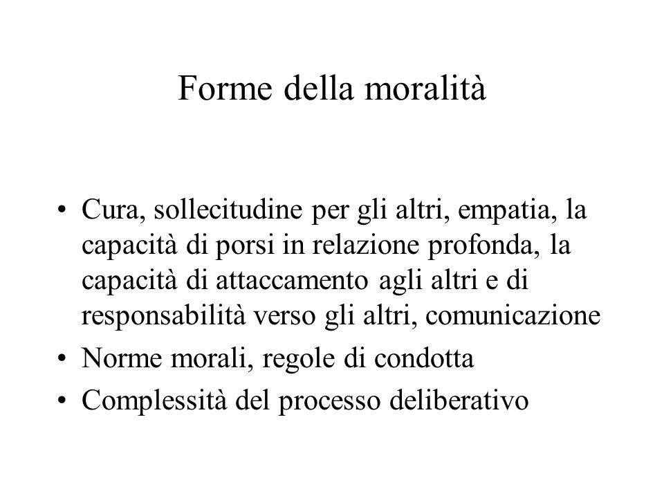Forme della moralità