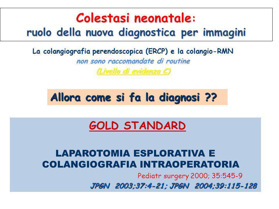 Colestasi neonatale: ruolo della nuova diagnostica per immagini