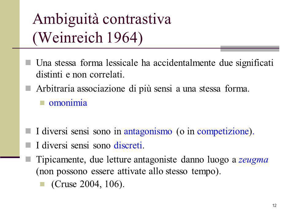 Ambiguità contrastiva (Weinreich 1964)