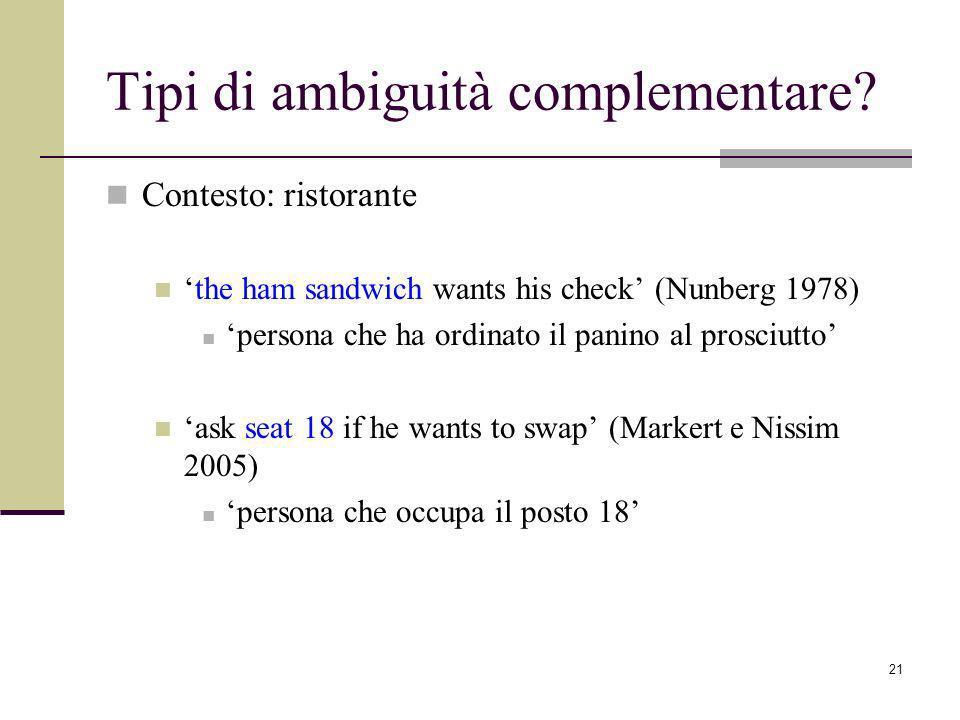 Tipi di ambiguità complementare