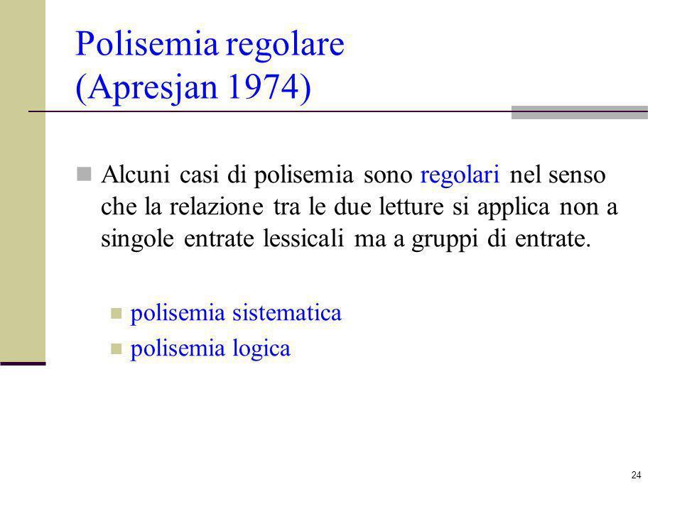 Polisemia regolare (Apresjan 1974)